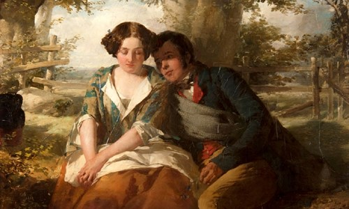 Thomas Faed's painting Burns and Highland Mary