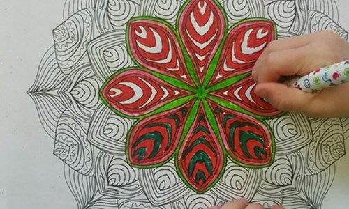 Make a Mehndi Pattern Canvas Painting with Khansa Aslam