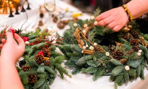 RSPB Willow Wreath Making