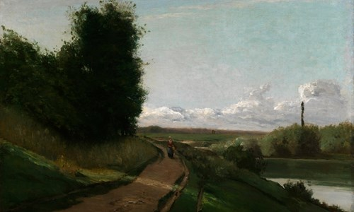 Camille Pissarro's painting 'The Banks of the Marne'