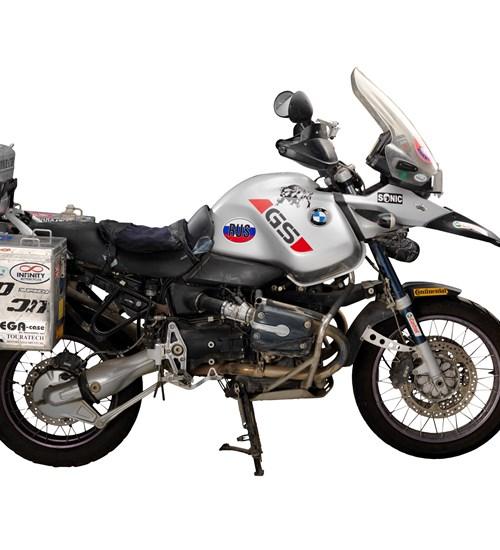 Motorbike Wall – Ewan McGregor's BMWs at Riverside Museum image
