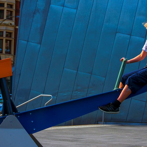 Sonica presents Pivot: a playground of semi-intelligent seesaws