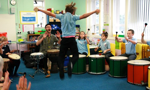 The Encontro Street Band Festival presents:  Children's workshop: The Big Drum Adventure - with Mat Clements