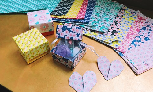 Ricefield Arts Papercraft session – Dragons and origami animal design