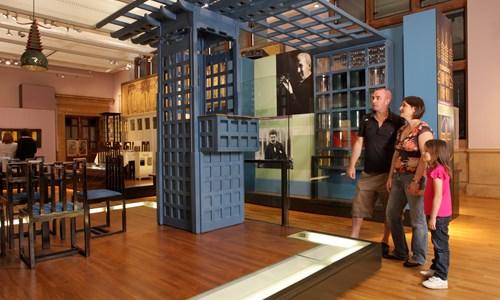Charles Rennie Mackintosh's Chinese Room from Miss Cranston's Ingram Street Tearooms