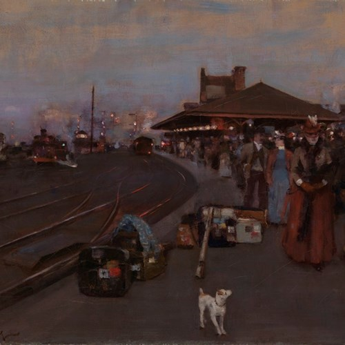 William Kennedy's painting 'Stirling Station'