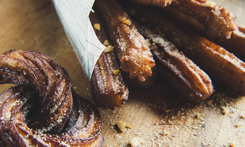 Soul Food Sisters: Spanish Churros and Flores Frittas