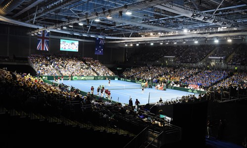 Davis Cup World Group play-off tie Great Britain against Uzbekistan