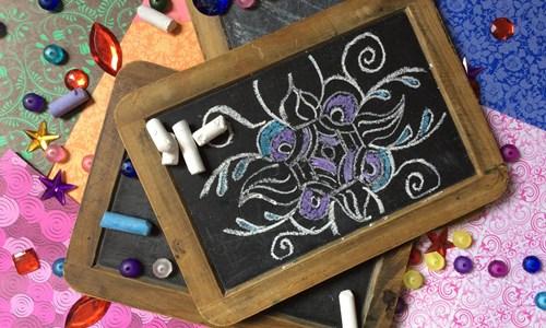 Design a Chalkboard Rangoli