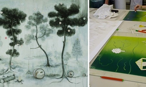 Mysterious Landscape Printing workshop