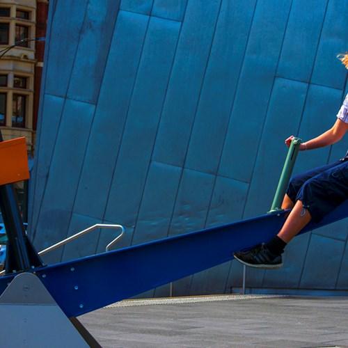Sonica presents Pivot: a playground of semi-intelligent seesaws